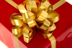Caixa de presente vermelha Foto de Stock Royalty Free