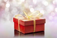 Caixa de presente vermelha Fotografia de Stock