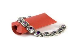 Caixa de presente vermelha Fotos de Stock Royalty Free