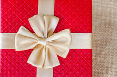 Caixa de presente vermelha Imagens de Stock Royalty Free