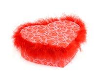 Caixa de presente vermelha dada forma coração foto de stock royalty free