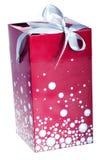 Caixa de presente vermelha grande Fotos de Stock