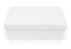Caixa de sapata fechado isolada no branco Imagem de Stock Royalty Free