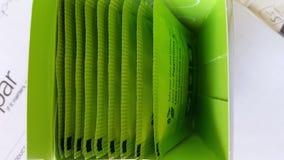 Caixa de saquinhos de chá verdes Imagem de Stock Royalty Free