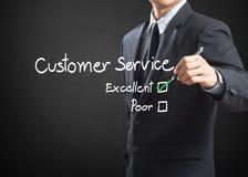 Caixa de seleção excelente no serviço ao cliente fotografia de stock royalty free