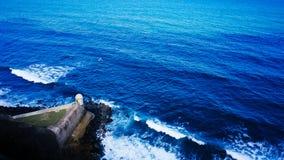 Caixa de sentinela em San Juan fotos de stock
