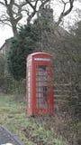 Caixa de telefone em vales de Yorkshire Fotografia de Stock Royalty Free