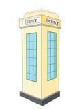 Caixa de telefone irlandesa velha ilustração stock