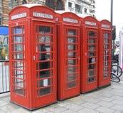 Caixa de telefone vermelha de Londres Fotos de Stock Royalty Free