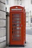 Caixa de telefone vermelha de Londres, Reino Unido Imagem de Stock