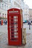 Caixa de telefone vermelha do vintage, Viena, Áustria Foto de Stock