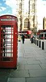 Caixa de telefone vermelha em Londres Imagem de Stock Royalty Free