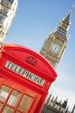 Caixa de telefone vermelha, Londres Imagem de Stock