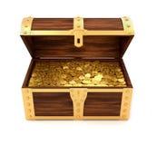 Caixa de tesouro Fotografia de Stock Royalty Free