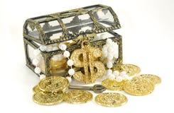 Caixa de tesouro foto de stock