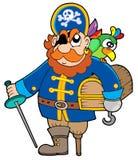 Caixa de tesouro da terra arrendada do pirata Imagem de Stock Royalty Free