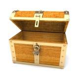 Caixa de tesouro de madeira Fotografia de Stock