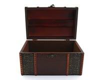 Caixa de tesouro de madeira vazia Imagens de Stock Royalty Free