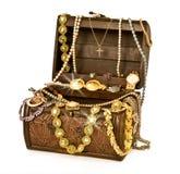 Caixa de tesouro do pirata Imagens de Stock Royalty Free