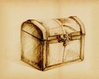 Caixa de tesouro fechada foto de stock