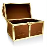 Caixa de tesouro vazia Fotografia de Stock Royalty Free