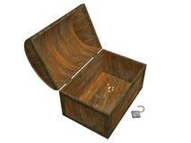 Caixa de tesouro vazia Imagem de Stock Royalty Free