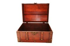 Caixa de tesouro vazia Fotografia de Stock