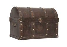 Caixa de tesouro velha isolada foto de stock royalty free