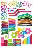 Caixa de texto colorida Imagens de Stock Royalty Free