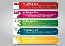 Caixa de texto colorida Imagens de Stock