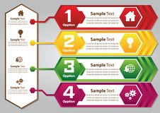 Caixa de texto colorida do hexágono Imagens de Stock