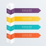 Caixa de texto colorida do vetor Fotos de Stock Royalty Free