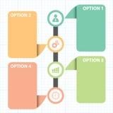 Caixa de texto com linha diagrama da estratégia empresarial Fotografia de Stock