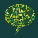 Caixa de texto de Eco Fotografia de Stock
