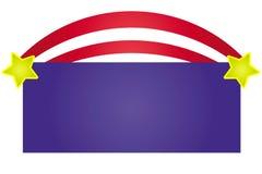 Caixa de texto patriótica Fotos de Stock
