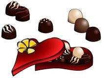 Caixa de trufas de chocolate Foto de Stock Royalty Free
