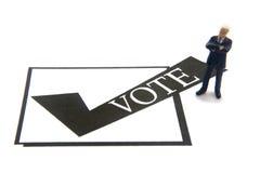 Caixa de verificação do voto Fotografia de Stock Royalty Free