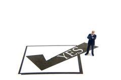 Caixa de verificação do YES Fotos de Stock