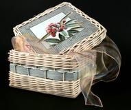 Caixa de vime Imagens de Stock Royalty Free