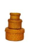 Caixa de vime fotos de stock royalty free