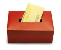 Caixa de votação vermelha Fotografia de Stock
