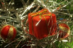 Caixa decorativa para presentes. fotografia de stock