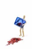 Caixa derramada dos corações Fotos de Stock Royalty Free