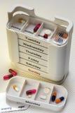 Caixa diária das drogas - medicamentação Imagens de Stock