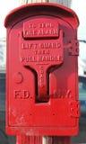Caixa velha do alarme de incêndio de FDNY Fotografia de Stock