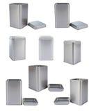 Caixa do alumínio da coleção Foto de Stock Royalty Free