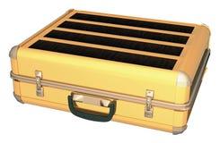 Caixa do alumínio do ouro Foto de Stock