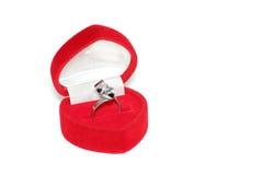 Caixa do anel Foto de Stock Royalty Free