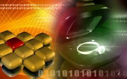 Caixa do anel do presente com anel Fotos de Stock Royalty Free