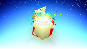Caixa do ano novo feliz ilustração stock